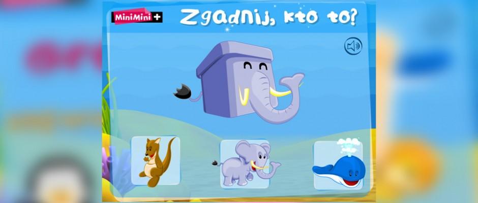 Zgadnij Kto To, to gra opublikowana na stronie internetowej MiniMini+, związana z bajką o tym samym tytule. W grze znajduje się wiele interesujących animacji i ilustracji zwierząt.
