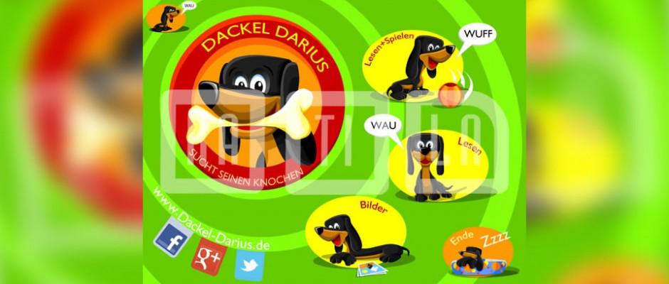 Dacke Darius to interaktywna książka na urządzeniach mobilnych, skierowana do dzieci, do której wyprodukowaliśmy grafikę i animacje.