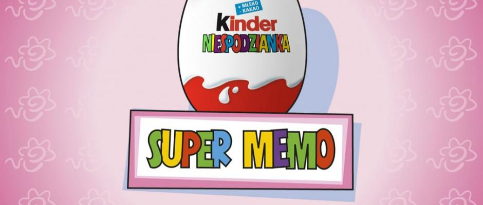 Super Memo to gra typu pamięć, która promuje Kinder Niespodziankę. Gra posiada trzy poziomy trudności.