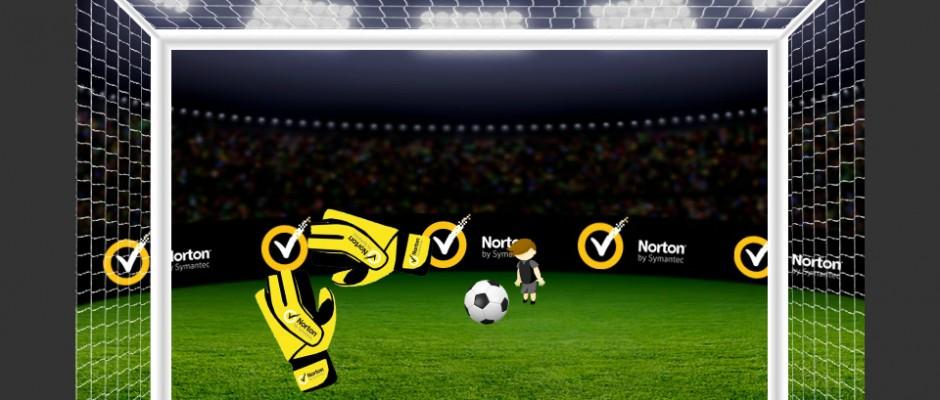 """Gra zintegrowana z Facebook API (ranking graczy, system zapraszania do gry), w której zadaniem gracza jest obronienie bramki przez nadlatującymi wirusami. Całość opiera się o znanym mechanizmie z gier typu """"goalkeeper""""."""