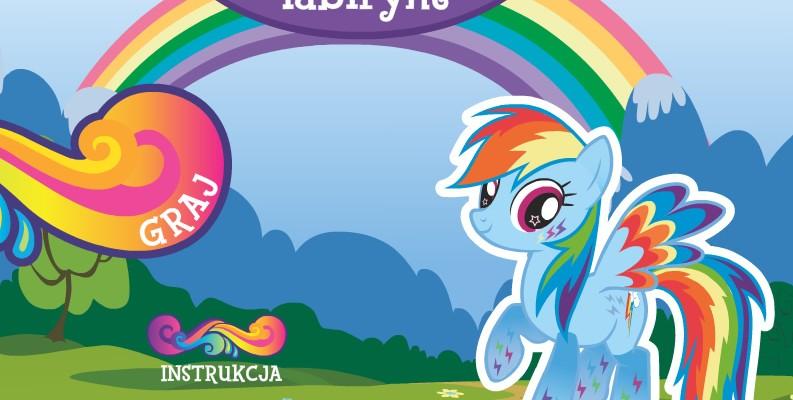 Gra My Little Pony Labirynt Rainbow Dash dla użytkowników strony internetowej MiniMini+. Gracz ma za zadanie przejść przez labirynt i zebrać wszystkie elementy, w możliwie jak najkrótszym czasie.